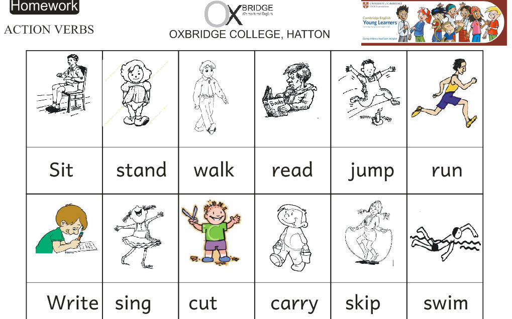 Actions Verbs  Active Verbs List